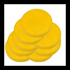 """Lot de 8 galets jaunes de 10 cm pour parcours """"Arcade Game"""""""