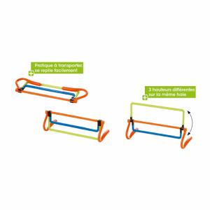 Petite haie rétractable, accessoire idéal pour l'animation d'un atelier de prévention routière.