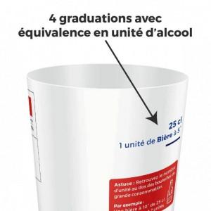 gobelet personnalisable de sensibilisation aux dangers de l'alcool au volant
